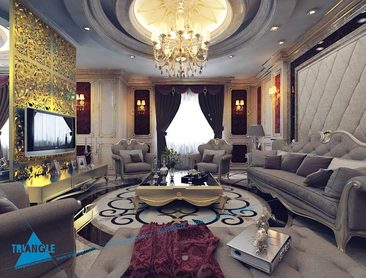 sample:  غرفة المعيشة تنفيذ triangle, كلاسيكي