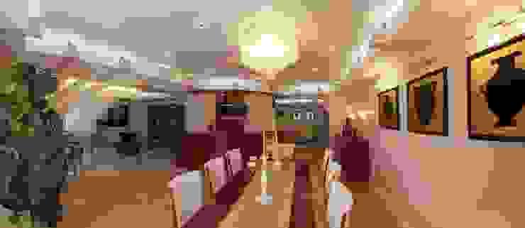 غرفة المعيشة تنفيذ Архитектурно-дизайнерская студия Александра Шереметьева, كلاسيكي