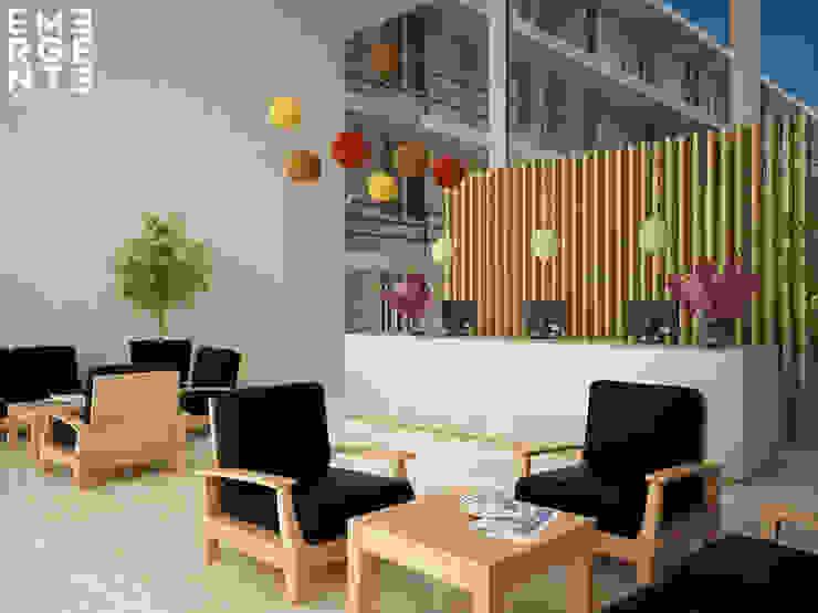 LOBBY Hoteles de estilo minimalista de homify Minimalista Piedra