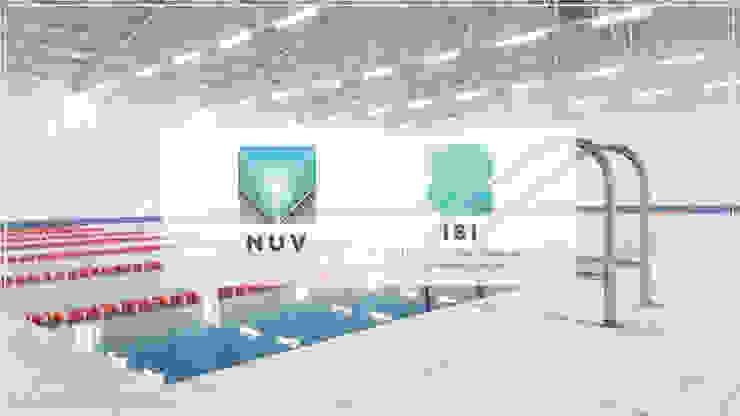 Alberca Semi-olímpica Escuelas de estilo minimalista de NUV Arquitectura Minimalista