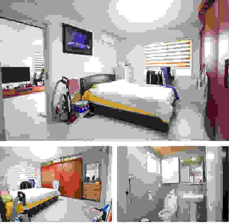 아기자기한 공간과 실용적인 공간을 활용한 모던스타일[충남 천안] 모던스타일 침실 by 지성하우징 모던