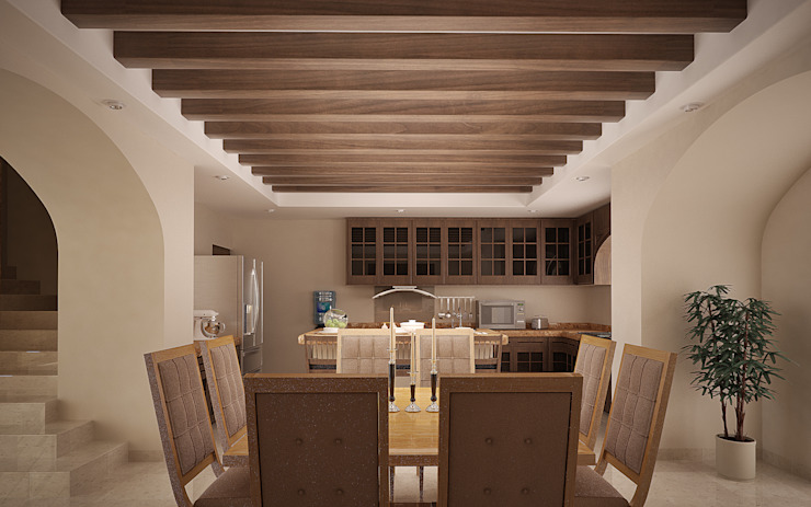 Classic style dining room by Gestec Classic Wood Wood effect