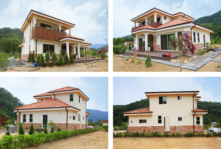 Houses by 지성하우징, Mediterranean