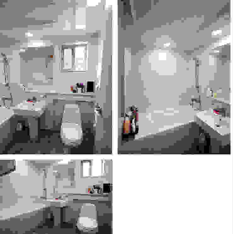 고풍스러운 느낌이 자연과 조화를 이루는 지중해스타일[전북 완주] 지중해스타일 욕실 by 지성하우징 지중해