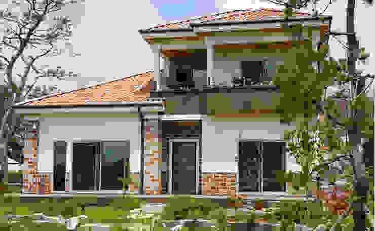 Mediterranean style houses by 지성하우징 Mediterranean