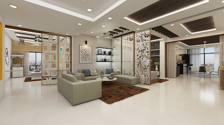 Drawing Room- Partition Ghar360