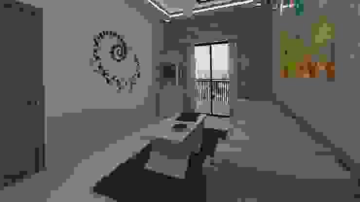 Living Room - Pooja Mandir and Seating Ghar360