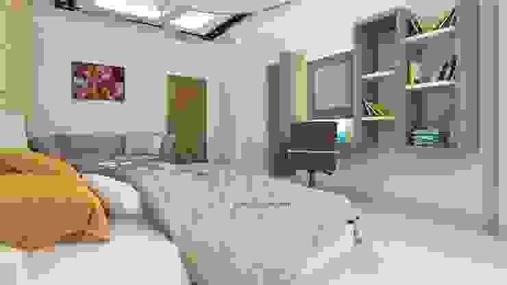 Guest Room- Study Table and BookShelf Ghar360