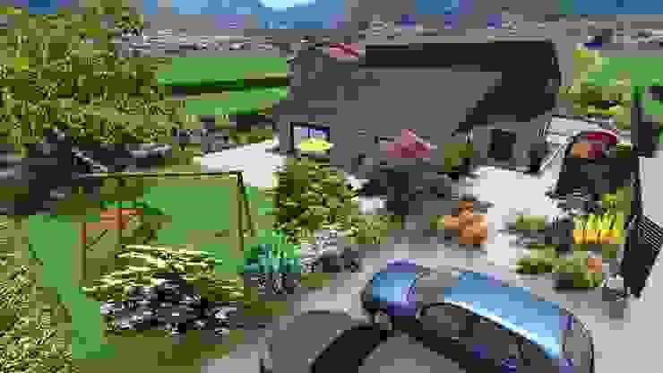 Jardin sinueux Jardin moderne par Anthemis Bureau d'Etude Paysage Moderne