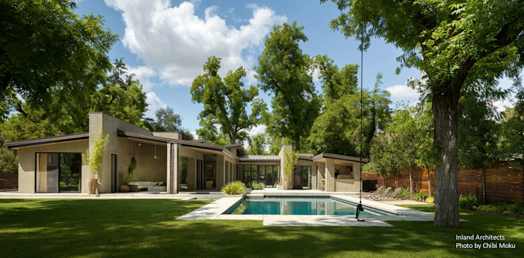 Vườn phong cách hiện đại bởi Chibi Moku Architectural Films Hiện đại Bê tông