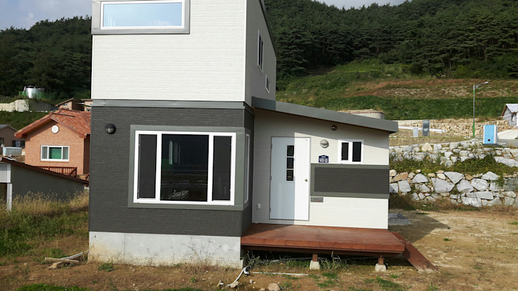 공장에서 제작한 모듈러주택 – 스마트하우스 by 스마트하우스