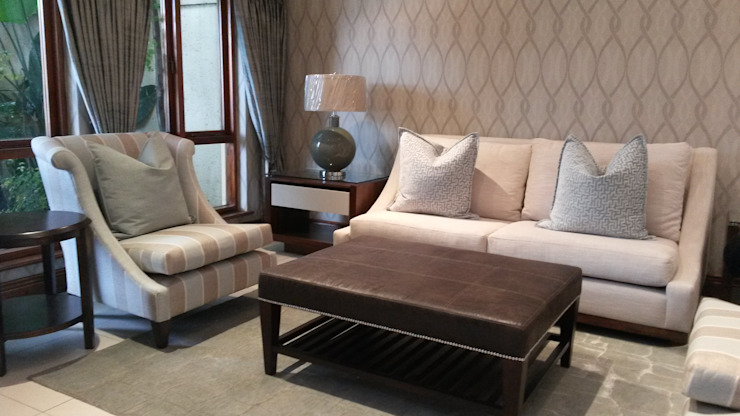 Riverclub Estate Eclectic style living room by CKW Lifestyle Associates PTY Ltd Eclectic
