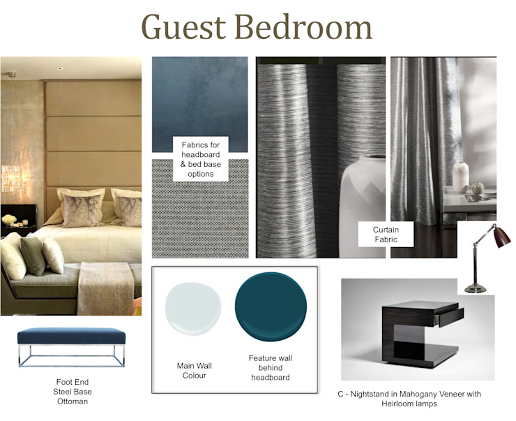 Moodboard Guest Suite Thando by CKW Lifestyle Associates PTY Ltd