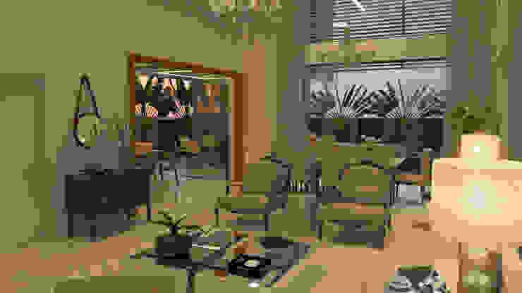THEROOM ARQUITETURA E DESIGN Salones de estilo moderno