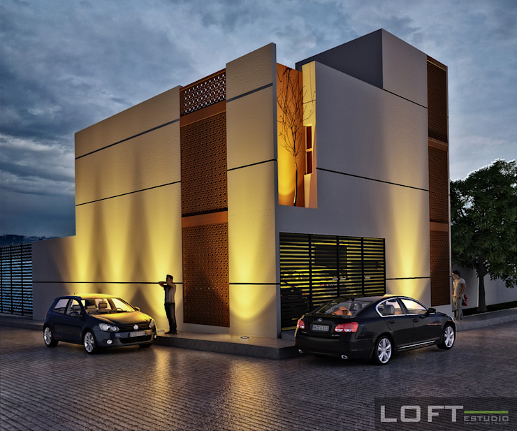 Modern houses by LOFT ESTUDIO arquitectura y diseño Modern Ceramic