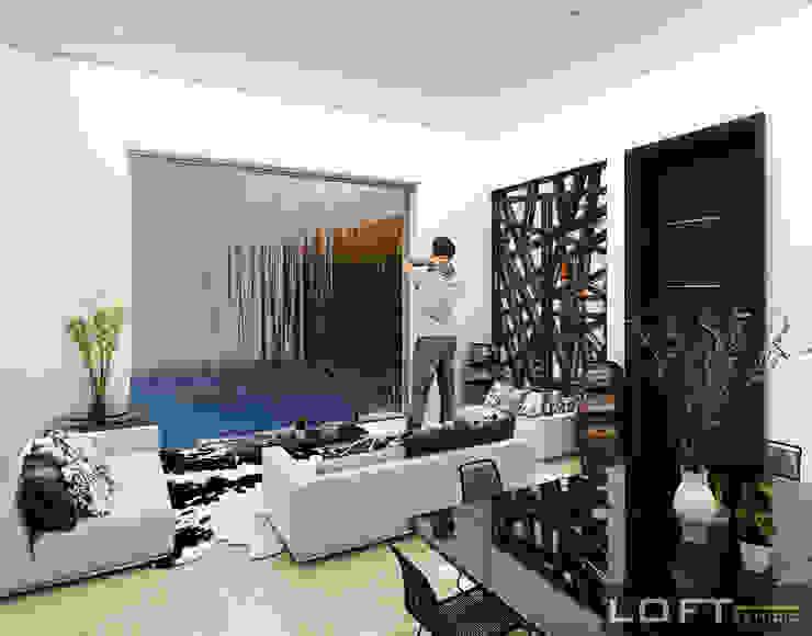 Modern living room by LOFT ESTUDIO arquitectura y diseño Modern Aluminium/Zinc