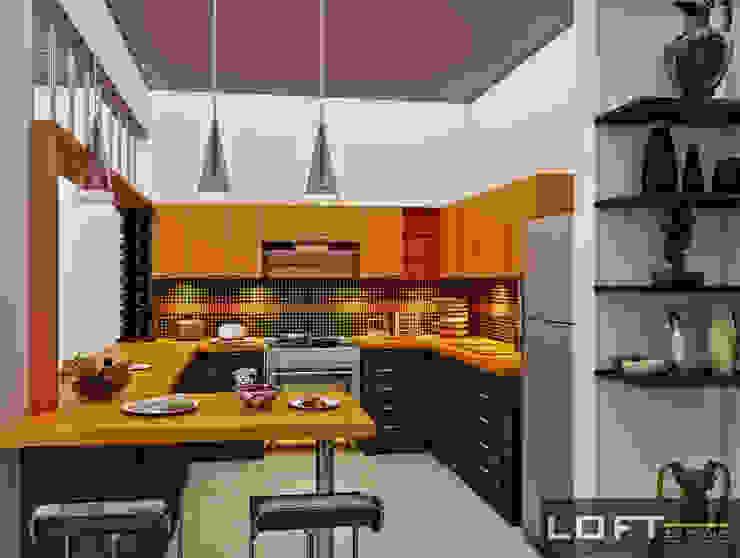Cocinas de estilo  de LOFT ESTUDIO arquitectura y diseño, Moderno Aglomerado