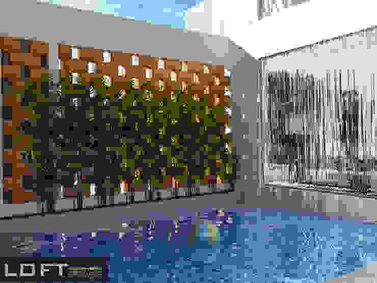 Modern pool by LOFT ESTUDIO arquitectura y diseño Modern Bricks