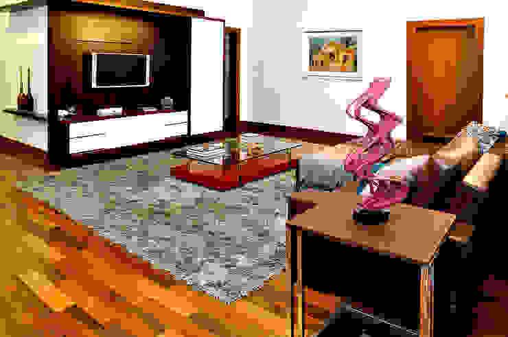 THEROOM ARQUITETURA E DESIGN Salas multimedia de estilo moderno