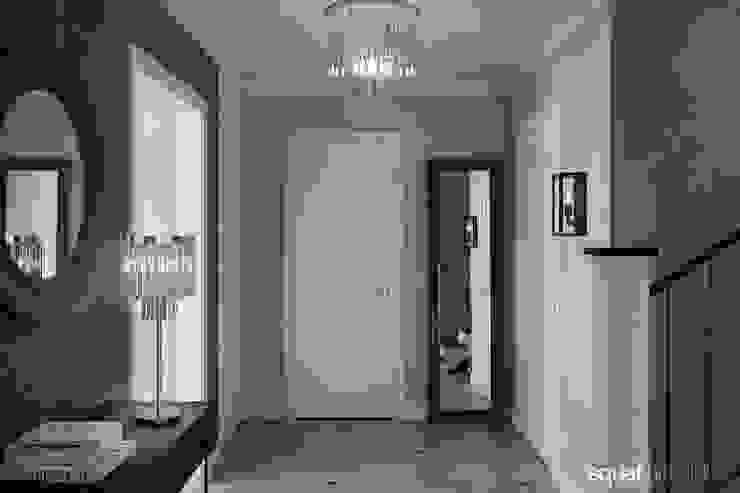 SQUAT ARCHITEKCI オリジナルスタイルの 玄関&廊下&階段 灰色