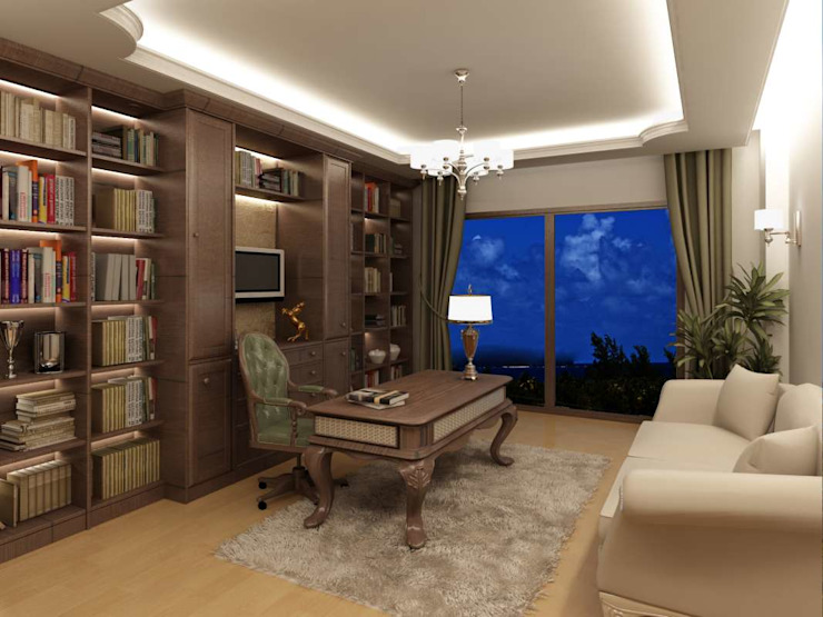Baz Villa Modern Study Room and Home Office by VERO CONCEPT MİMARLIK Modern