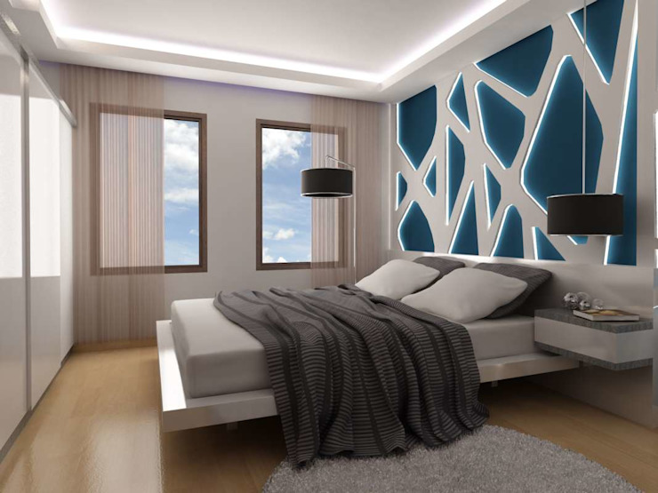 غرفة نوم تنفيذ VERO CONCEPT MİMARLIK