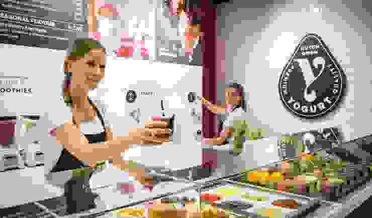 Y-yogurt Moderne winkelruimten van Spacific Modern