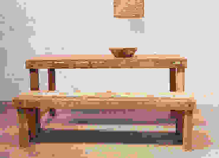 Reclaimed Dining Table & Bench par Little Mill House Éclectique