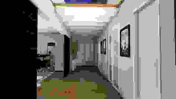 Rustic style corridor, hallway & stairs by Studio² Rustic