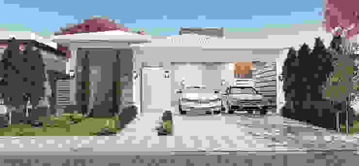 Residência L & C Celis Bender Arquitetura e Interiores Casas clássicas Concreto Branco