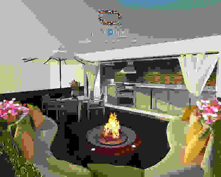 Roof Garden Casa 57 Casa Fuerte Salones modernos de Prototipo Arquitectos Moderno