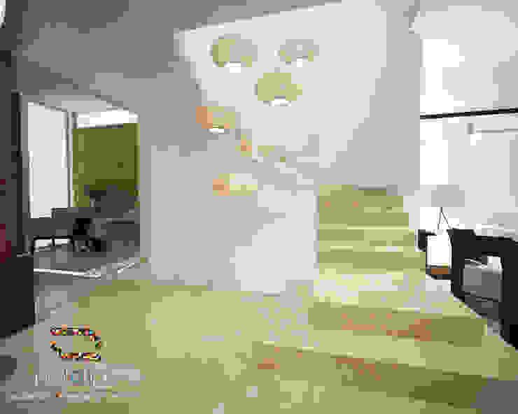 Escaleras Casa 57 Casa Fuerte Pasillos, vestíbulos y escaleras modernos de Prototipo Arquitectos Moderno