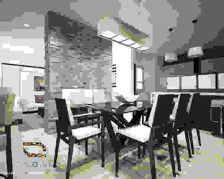 Comedor Casa 57 Casa Fuerte Comedores modernos de Prototipo Arquitectos Moderno