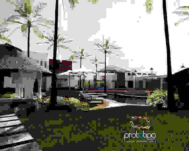 Prototipo Arquitectos Balkon, Beranda & Teras Modern