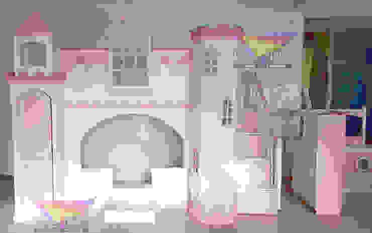 Hermoso castillo litera de camas y literas infantiles kids world Clásico Derivados de madera Transparente