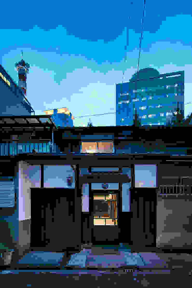 外観 夕景 株式会社 藤本高志建築設計事務所