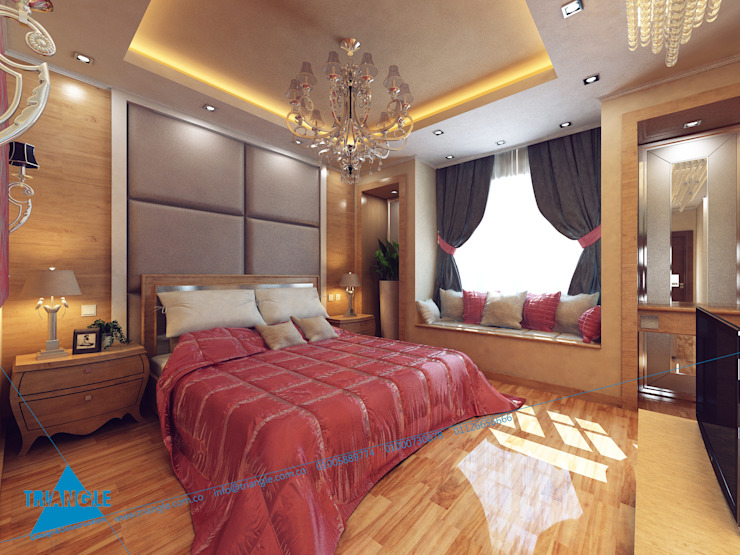 Bedroom by triangle,