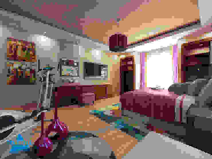 triangle Dormitorios modernos: Ideas, imágenes y decoración Marrón