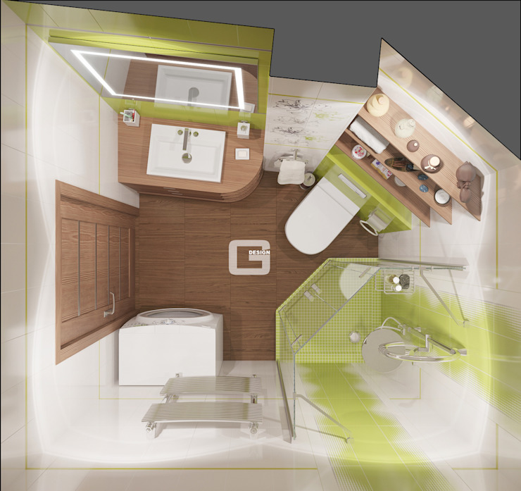 Giovani Design Studio Eclectic style bathroom