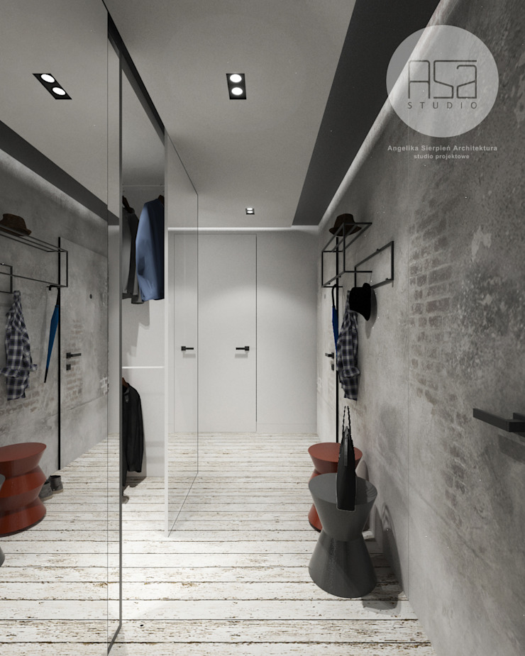 Modern Corridor, Hallway and Staircase by ASA studio Modern