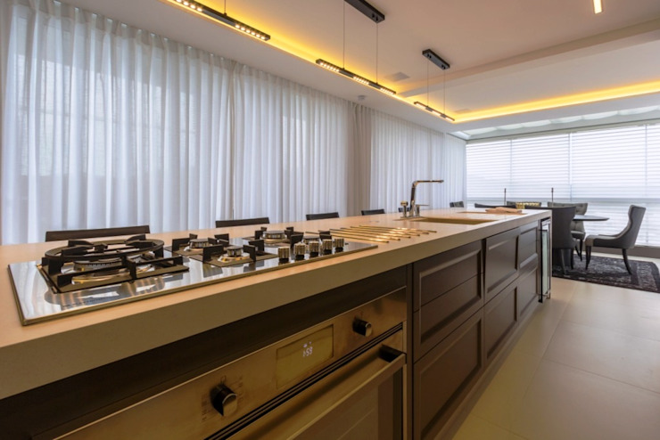 Apartamento Cobertura Cozinhas modernas por Spengler Decor Moderno