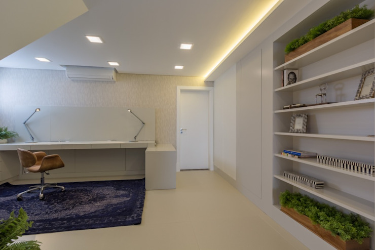 Apartamento Cobertura Escritórios modernos por Spengler Decor Moderno
