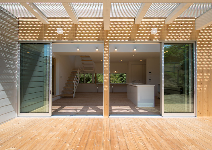 アトリエ24一級建築士事務所 Modern houses Wood