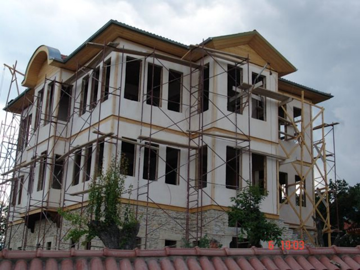 İNDEKS YAPI TASARIM Mediterranean style houses Wood Wood effect