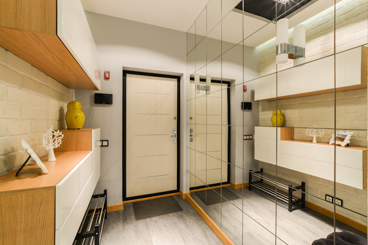 Концепция серого Коридор, прихожая и лестница в модерн стиле от Дизайнер Светлана Юркова Модерн