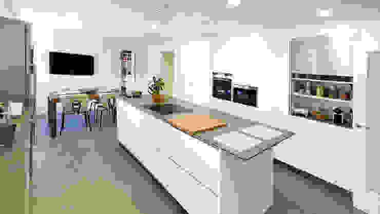 Cuisine moderne par arqubo arquitectos Moderne Céramique