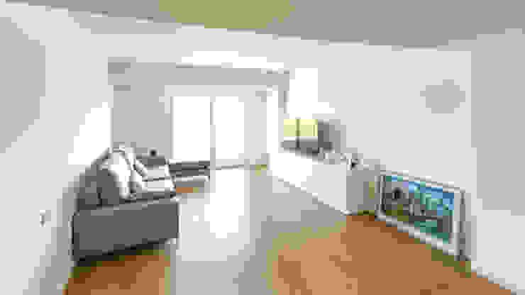 Moderne woonkamers van arqubo arquitectos Modern Hout Hout