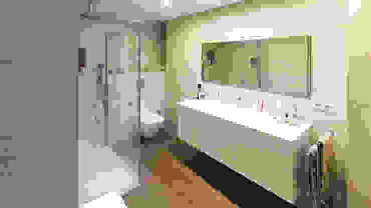 Moderne badkamers van arqubo arquitectos Modern Keramiek