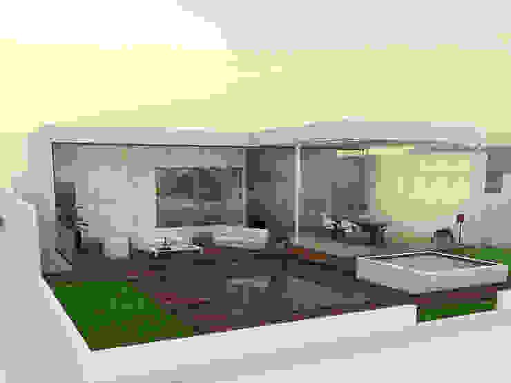 patio hacia campo de golf de Spacio Diseño Construcción