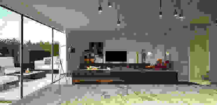 casa ARG Salas de estar modernas por 1870 ARQUITECTURA | INTERIORES Moderno